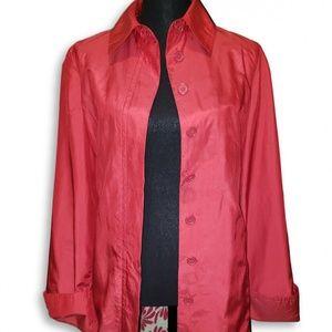 Zara Basic Red Long Trench Coat